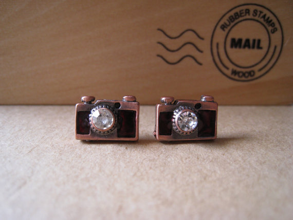 Camera Earrings by Bitsofbling on Etsy