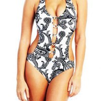 Multi Swimsuit - Boho Chic One Piece Swimsuit | UsTrendy