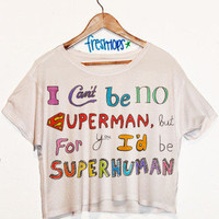 SuperHuman Short Sleeve Crop | fresh-tops.com