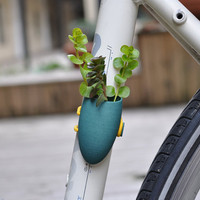 Bike Planter in Teal by wearableplanter on Etsy