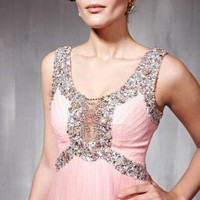 Pink Prom Dress - Magical Pink Chiffon Prom Dress | UsTrendy