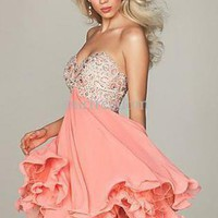 Multi Cocktail Dress - Sweetheart neck Knee-Length Cocktail Dress | UsTrendy