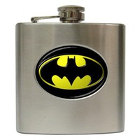 BATMAN LOGO Hip Flask (6 oz)