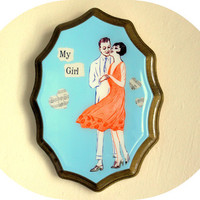 My Girl wall hanging made with vintage sheet music by GildedDays