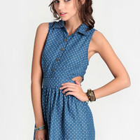 Dixie Polka Dot Chambray Dress - $35.00 : ThreadSence, Women&#x27;s Indie &amp; Bohemian Clothing, Dresses, &amp; Accessories