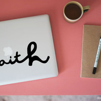 faith large laptop decal