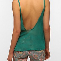 Pins And Needles Scoop-Back Chiffon Tank Top