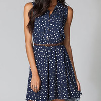 L8TER Heart Print Womens Hi Low Shirt Dress 216306210 | Dresses | Tillys.com