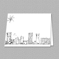 Note Card Urban Decay by TheRedStarDesigns on Etsy