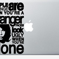 The Doors People are Strange laptop DECAL macbook PC by EyvalDecal