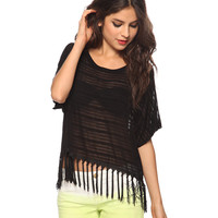 Sheer Fringe Top | FOREVER21 - 2000032936