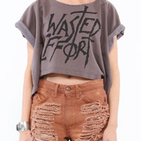 Shop Obesity & Speed - Wasted Effort Crop in womens  new  tops