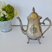 Vintage Teapot Vintage Silver Plated Teapot by JudysJunktion