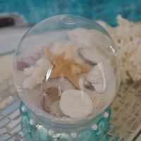 Beach Decor Beach Christmas Sand Snow Globe