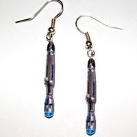 Dr. Who  Sonic Screwdriver  Earrings, Tardis Matt Smith David Tennant, Darlek