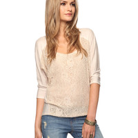 Lace Raglan Top | FOREVER21 - 2000034859