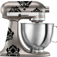 KitchenAid Mixer Damask Decals - Vinyl Sticker for Stand Up Mixer Kitchen Appliance