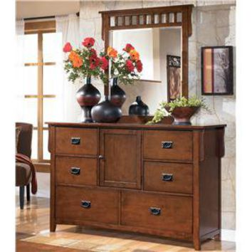 Colter Mission Style Dresser And Mirror From Wayside