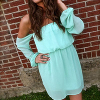 Straight Forward Dress in Mint | The Rage