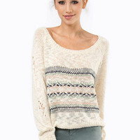 Slightly Isled Crochet Sweater $37