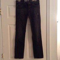 Roxy Jeans Black Color Size 3 Skinny Fit