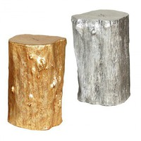 Gold Log Stool - Living
