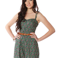 Papaya Clothing Online :: CUT OFF BACK FLORAL ROMPER W/ BELT