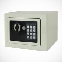 NEW Cream Digital Electronic Safe Box Keypad Lock Gun Security Home Office Hotel