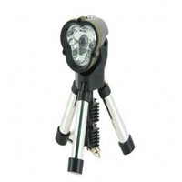 1 LED Flashlight and Flexible Tripod Stand with Keychain (Black) - $2.60
