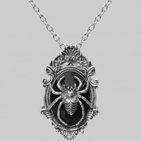 Gothic shop: Aranea spider necklace by Restyle jewelry