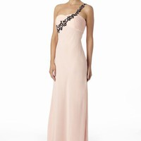 Peach & Black 'Valentino'  Grecian Dress From VERB