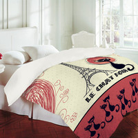 DENY Designs Home Accessories | Belle13 Le Chat Noir Duvet Cover