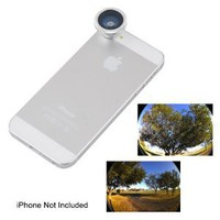 Amazon.com: Ebest Silver 180 Degree Wide Angle Super Fisheye Lens for iPhone 5 5G 3GS 4 4S 4G i9300 i9220 DC71: Cell Phones & Accessories