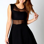 Alice Cap Sleeve Mesh Top Skater Dress
