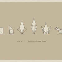 $17.00 Evolution of Paper Crane Art Print by AGRIMONY // Aaron Thong | Society6