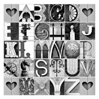 Alphabe Photo Letter Art  ABC's in architectural by senterstudios