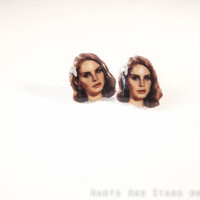 Lana Del Rey Stud Earrings by HartsAndStars on Etsy
