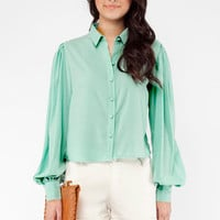 Too Minty For My Blouse in Blue :: tobi