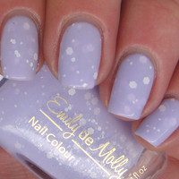 Nail polish  Simplicity matte white glitter in a by EmilydeMolly