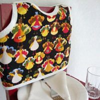Turkey Print Bib by maddywear