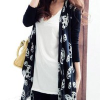 Working it long Cardigan Skull print jacket