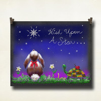 Chalk Board Art Wish Upon a Star Chalk Board 8 x by EyeCaptureArt