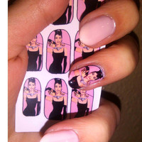 AUDREY HEPBURN Breakfast At Tiffany's NAIL decals