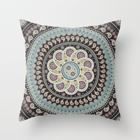 Mandala Paisley Throw Pillow by Belle13 | Society6