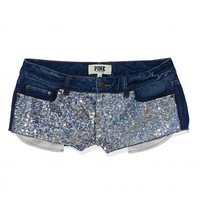 Bling Printed Denim Short