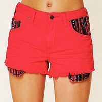 Free People  Clothing Boutique > Rugged Ripped Baja Denim Shorts