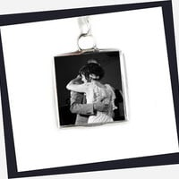 Wedding Customize Charm Pendant Personalized Your Photo Initial Charm Soldered Glass Necklace Wedding Bridal Keepsake wedding memorial
