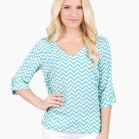 Sweet Society Chevron Print Top @ FrockCandy.com