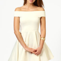Tamsin Off The Shoulder Skater Dress