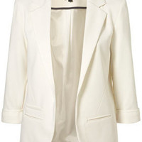 Ponte Boyfriend Blazer - Jackets   - Apparel  - Topshop USA